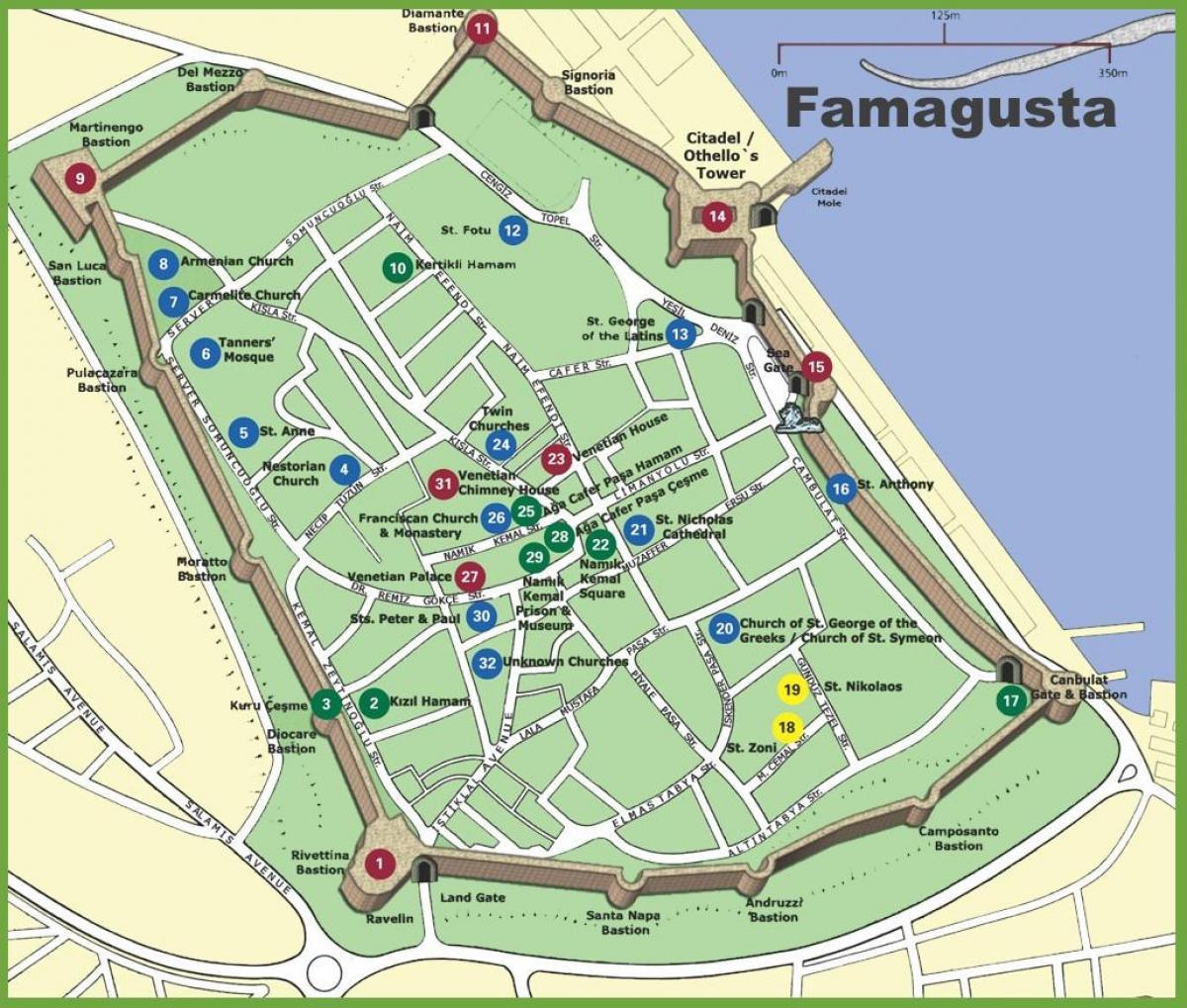 Famagusta Zypern Karte Karte Von Famagusta Nord Zypern Europa